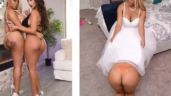 Bridesmaid Bridgette B is horny with Moriah Mills and wants XXX sex