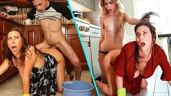 Horny matriarch has threesome with son and daughter - HD Hard-core sex