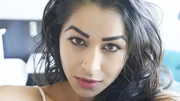 Naughty indian babe Maya Rati illegality teasing while on XXX camera