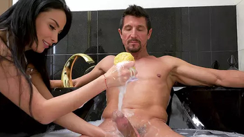 Obedient maid Anissa Kate Hardcore washes their way mature employer's cock
