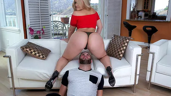 Scullery XXX video of the housewife sitting on stepbrother's face