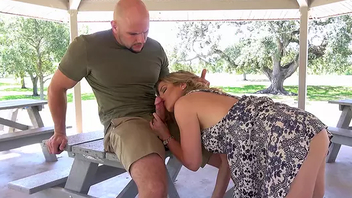 Playful MILF wants that cock keenly her throat