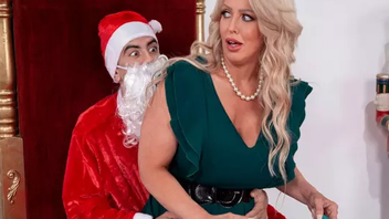 Perv dressed like Santa sneakily fucks MILF involving huge XXX melons