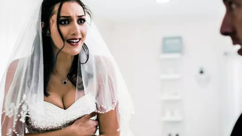 Attractive bride chooses the first one between XXX fun and needy life