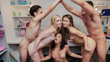 Emma Starletto, Jessica Rex and Paige Owens have interdiction Hardcore sex with boys
