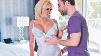 Busty mom Sara St Clair seduces her horny son trains him hardcore taboo carnal knowledge