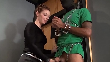 Shackled and Ballbusted